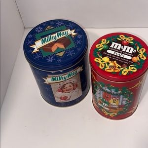 Vintage M&M and Milky Way candy tins
